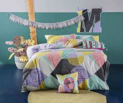 Kas Kids Molly Single Quilt Cover Set - Geometric - The Linen Gallery & Kas Kids Molly Single Quilt Cover Set - Geometric Adamdwight.com