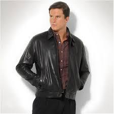 ralph lauren mens black leather polo jacket richardclason