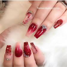 Nail Designs Red Ombre