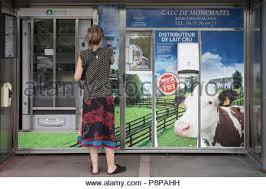 Raw Milk Vending Machine Best RAW MILK VENDING MACHINE LANGEAC 48 FRANCE Stock Photo