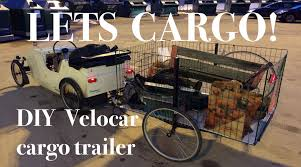 Bike Camper Trailer Diy Bicycle Cargo Trailer Youtube