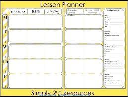 Lesson Plan Book Template High School Teacher Day Planner