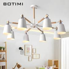 Online Shop <b>BOTIMI</b> Lustre Solid <b>Wood</b> Chandelier For Living Room ...