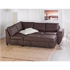 leather sofa bed. Fernando Leather Left Hand Sofa Bed Corner Group - Chocolate