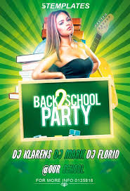 Green Party Flyer Free Back To School Party Flyer Psd Template Photoshop Freebie