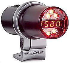 auto meter 5343 tube shift light level 1 amber indicators jegs auto meter 5343