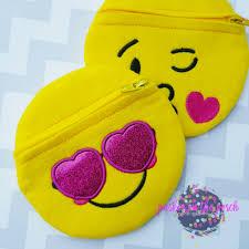 Emoji Embroidery Designs Digital Download Emoji Zipper Bags 2 0