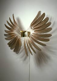 large metal feather wall art