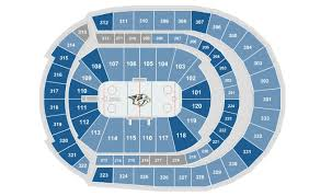 Bridgestone Arena Seating Chart Virtual Bridgestone Arena Interactive Seating Chart For Concerts
