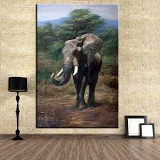 Small Picture Aliexpresscom Buy DP ARTISAN NO FRAME HUGE elephant ANIMAL ARTS