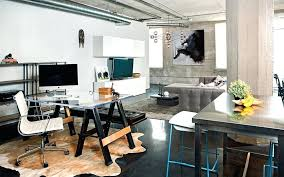industrial office decor.  Industrial Industrial Office Decor Home Design With Glass Table And  White Modern Chair Also Grey For Industrial Office Decor