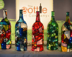 Stained Glass Wine Bottle Decorations how to paint wine bottles to look like stained glass Google 2