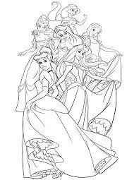 Small Picture Disney Princess Coloring Book Pages Coloring Page Coloring page