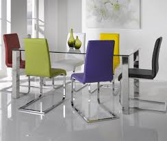 93 dining table multi color coloured chair