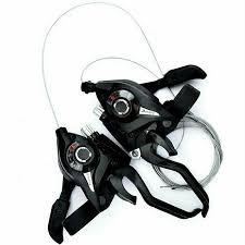 1Pair <b>ST EF51 gear</b> shifter/brake lever 3 x 7,8 speed or set black v ...