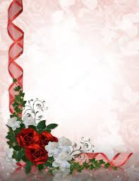 Fondo Para Invitaciones Boda Rosas Rojas De La Frontera