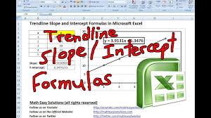 Trendline Slope And Intercept Formulas In Microsoft Excel