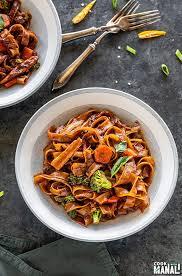 instant pot vegan drunken noodles
