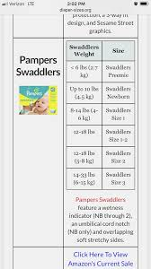 Pampers Swaddlers Weight Chart Competent Pamper Sizing Chart Pampers Swaddlers Size Chart