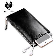 lielang men s long wallet luxury genuine leather vintage black wallet coin purse cow leather male carteira zipper luxury wallets ping hungama