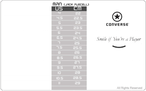 Converse Jack Purcell Size Chart Offerzone Co Uk