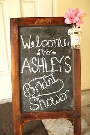 wooden frame chalkboard vintage bridal shower signs banner diy