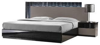 modern platform bedroom sets. JNM Roma Modern Black And Grey Lacquered Bedroom Set, Queen, 5pc Set Modern Platform Bedroom Sets S