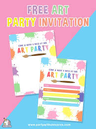 Art Party Invitation Get Your Free Printable