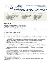 Medical Assistant Resume Templates And Cover Letter Job Example
