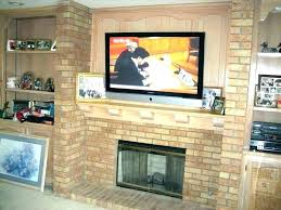 mounting on brick fireplace mount s installing wall over tv for above