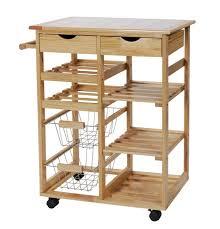 pine tile top kitchen trolley