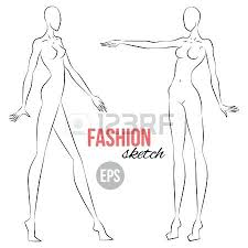 Body Template For Designing Clothes Vector Beautiful Young Woman Body Template For Fashion Clothing