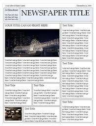Newspaper Template Microsoft Word Templates Adobe