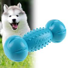 fit to viewer prev next 1pc pets dogs toys soft tpr elastic dumbbell puppy sound squeak