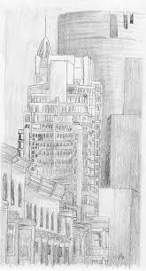Le Crystal Sketch Drawing by Duane Gordon
