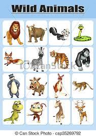 wild animals chart. Brilliant Animals Wild Animal Chart  Csp35269792 And Wild Animals Chart L