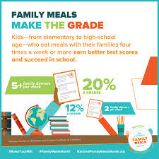 family meals month pledge to prepare safe and healthy family meals community