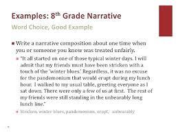 8th Grade Essay Examples Narrative Essay Examples For 8th Grade Mistyhamel
