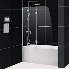 dreamline showers aqua tub door frosted glass frameless bathtub throughout doors prepare 19