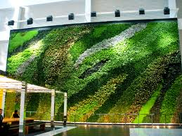 informal green wall indoors. This Living Wall Has Plants Arranged In Informal Shapes Where The Are Natural. Green Indoors M