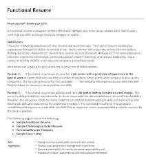 Chronological Resume Outline Resume Template Career Resume