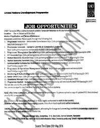 programme associate programme management specialist ict  job description