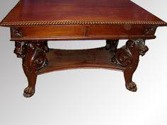 17501 mahogany carved griffin library table possibly rj horner maine antique furniture antique office table