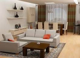 dazzling small space home interior brown solid wood shape home