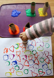 art and craft ideas for toddlers pinterest. printing with cardboard shape tubes. shapes for toddlersart activities art and craft ideas toddlers pinterest t