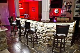 basement bar stone. Variable Color Temperature LED Accent Lighting On Stone Bar Traditional- Basement Bar Stone L