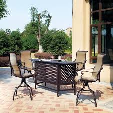 attractive 5 piece patio bar set 12 outdoor sets 1 6117