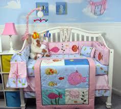 soho pink gold fish aquarium baby crib bedding set 13 pcs on com