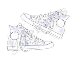 converse shoes clipart. converse shoe clipart // hand drawn watercolor sneaker retro vintage shoes s
