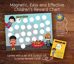 Magnetic Reusable Superhero Reward Chart For Children Chore Tracker Potty Training Responsibility Chart Teaching Tools